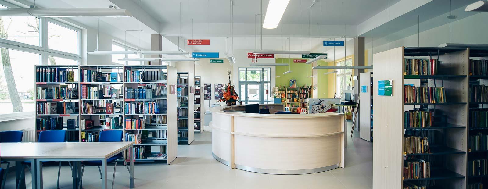 Biblioteka wnetrze