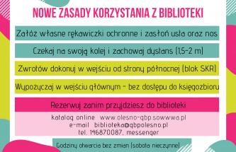 Zdjęcie do wpisu Zasady korzystania z biblioteki