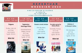 Przejdź do wpisu Repertuar kina na Wrzesień