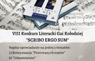 """Zdjęcie do wpisu Konkurs Literacki Gai Kołodziej """"SCRIBO ERGO SUM"""""""