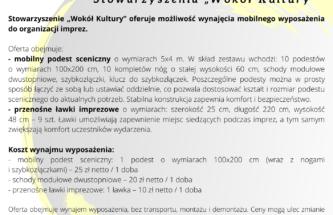 """Zdjęcie do wpisu Oferta odpłatnej usługi  Stowarzyszenia """"Wokół Kultury"""""""