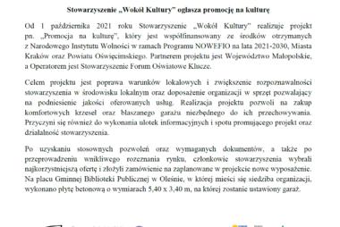 """Zdjęcia z galerii Stowarzyszenie """"Wokół Kultury"""" ogłasza promocję na kulturę"""